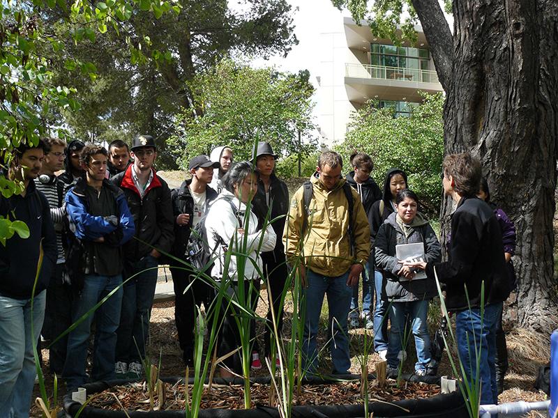 Darby teaching at wetlands preserve