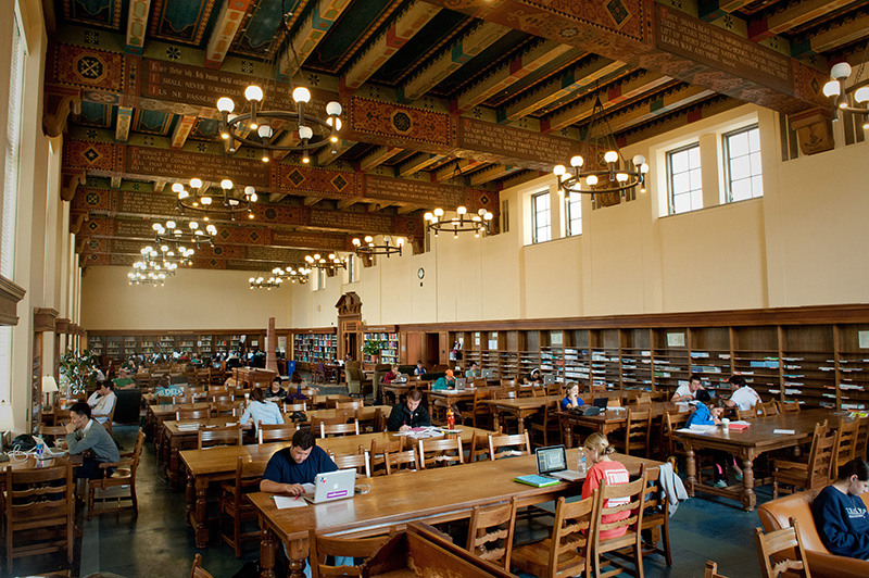 interior of UT Life Sciences Library