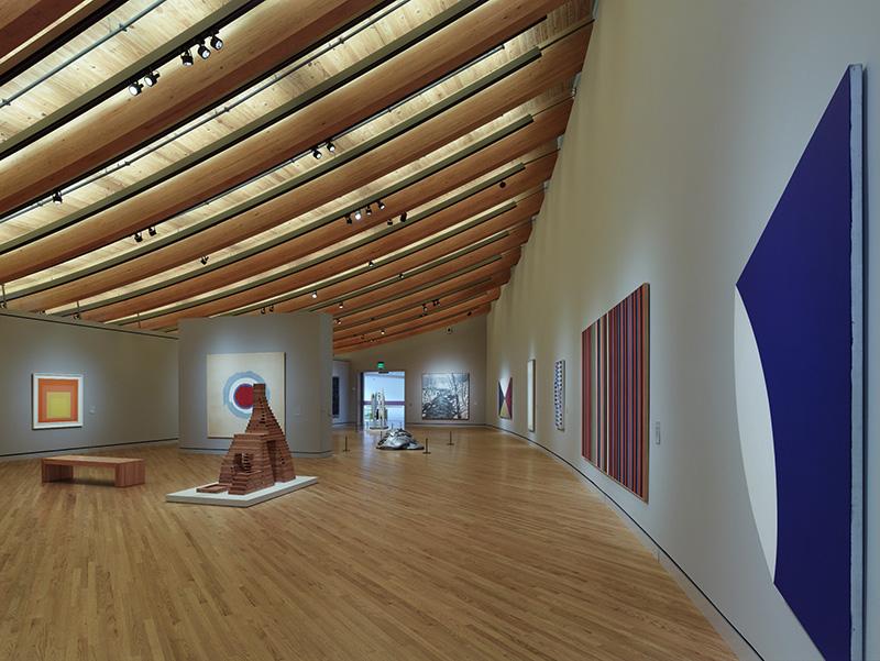 interior gallery of Crystal Bridges museum