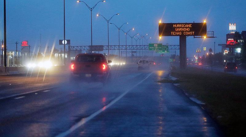 highway at night, raining