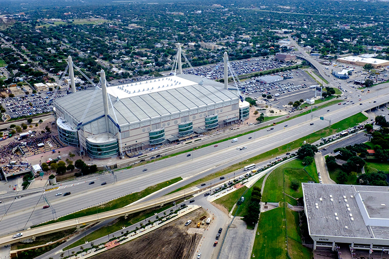aerial view of the Alamodome