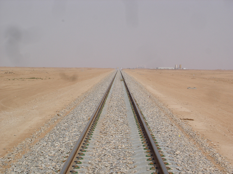 railroad line going off into distance